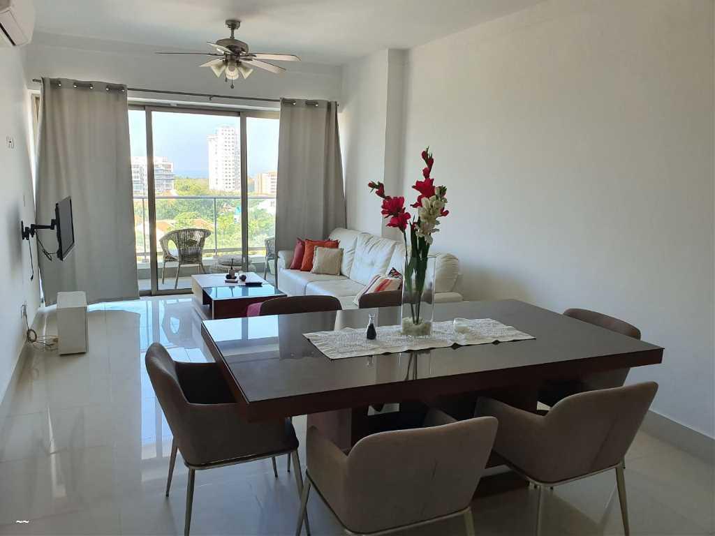 Alquilo Moderno Apartamento Amueblado En Los Cacicazgos